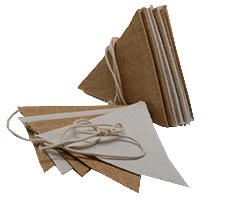 JUTE TWO TONE BUNTING - White and Natural