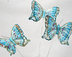 8cm FEATHER BUTTERFLIES