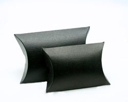 BUSTA/PILLOW - SETA NERO finish