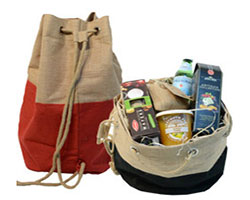 JUTE DUFFLE HAMPER BAG