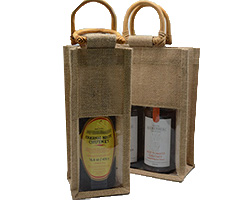 JUTE BAGS w/WINDOW - Double or Single