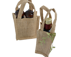 JUTE BAGS - ONE or TWO BOTTLES