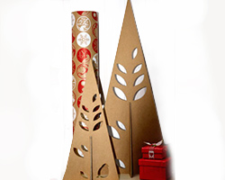 CUT OUT TREE-Natural Cardboard