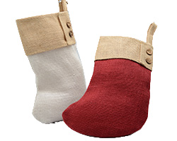 JUTE STOCKING with CONT CUFF