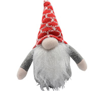 16cm NORDIC GNOMES SET - Silver/Red