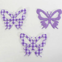 52mm CHECKED-Butterflies - Lavender
