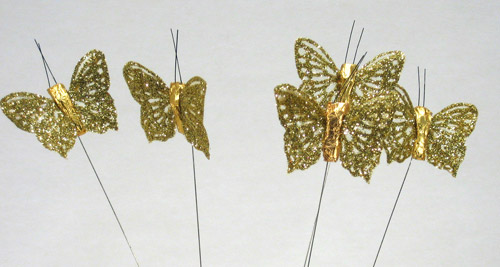 4cm SHEER B'FLY-Gold