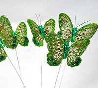 8cm SHEER B'FLY-Lime