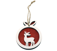6CM REINDEER WITH ROPE-Red/White