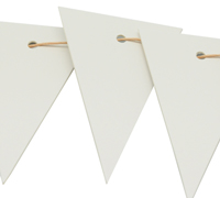 CARBOARD BUNTING TAG-White