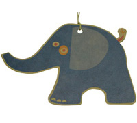 CARDBOARD GIFT TAG-Elepahant Navy (brown kraft)