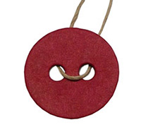 C/B BUTTON GIFT TAG-Red kraft