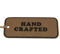 C/B HAND CRAFTED GIFT TAG-Black on Natural Kraft