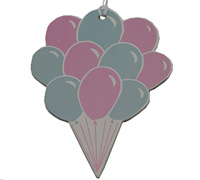 C/B BALLOON GIFT TAG-Pink/Blue On White Artboard