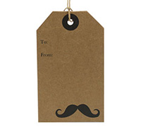 CARDBOARD LUGGAGE TAG-Moustache