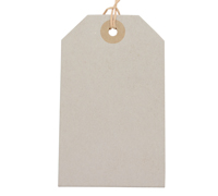 CARDBOARD LUGGAGE TAG-Solid White
