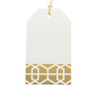CARBOARD LUGGAGE TAG-Lattice Gold