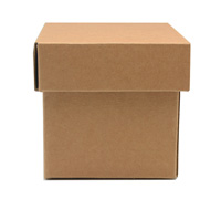 MINI GIFT BOX & LID PACK-Natural