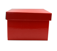 SML GIFT BOX & LID PACK-Gloss Red
