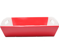 MED HAMPER TRAY PACK-Gloss Red