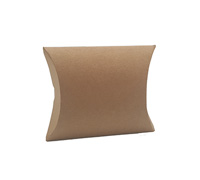 PILLOW BOX LARGE PACK-Natural Kraft