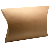 PILLOW BOX GRANDE PACK-Natural Kraft