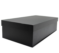 DOUBLE CASEMADE FOLD-UP BOX-Black Linen
