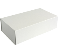 MAGNETIC LID DOUBLE BOX-White Linen