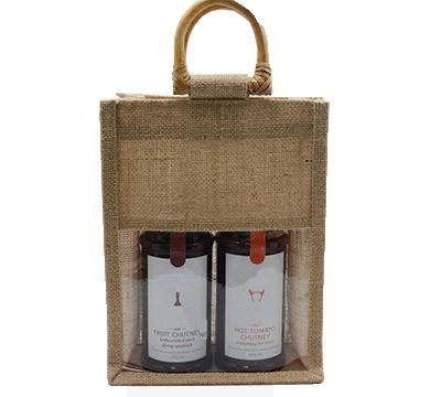 Barama Products Jute Double Bag C Window Natural Jute Bags W Window Double Or Single Fbjt Dbwin Nat
