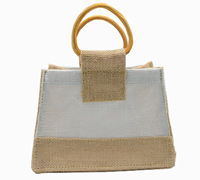 JUTE MINI HANDBAG-Natural/White