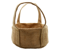 JUTE ROUND TRAY SML -Natural