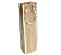 JUTE WINE BAG (Single) - NATURAL