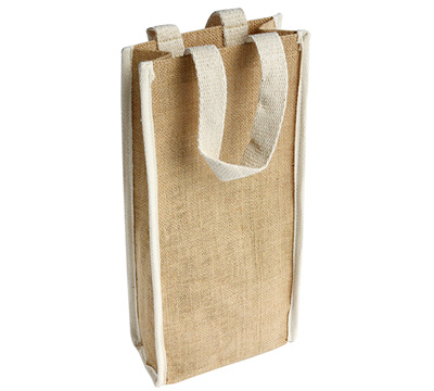 JUTE WINE BAG (Double) - NATURAL