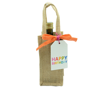 JUTE 1 BOTTLE BAG XS -Natural