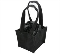 JUTE TINY TOTE BAG-Black