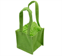 JUTE TINY TOTE BAG-Lime