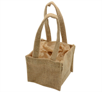 TINY JUTE TOTE BAG-Natural Jute