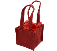 JUTE TINY TOTE BAG-Red