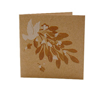 GIFT CARD BIRDS/BERRIES-White/Natural On Natural Kraft