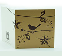 GIFT CARD BOTANICALS-Gold/Chocolate