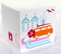 GIFT CARD COMBI-Tangerine/Hot Pink/Pink/Tiffany