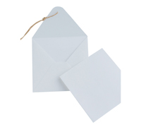 GIFT CARD ENVELOPE-White