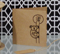 GIFT CARD AUST. ANIMALS-Black on Kraft