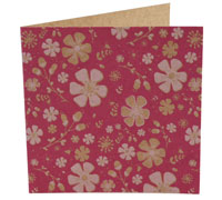 GIFT CARD PRETTY BLOOMS-HPink/PPink on Natural Kraft