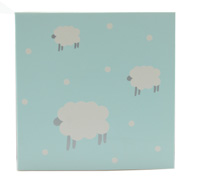 GIFT CARD WOOLLY SHEEP-Blue/Grey on White card