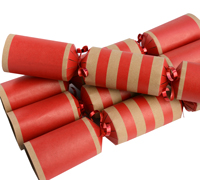 LUXURY SCARLET CHRISTMAS CRACKERS - 12pcs