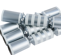 LUXURY SILVER CHRISTMAS CRACKERS - 12pcs