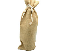 JUTE DRAWSTRING BAG XL-Natural Jute