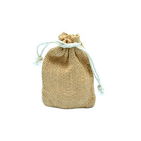 JUTE DRAWSTRING BAG XS-Natural Jute