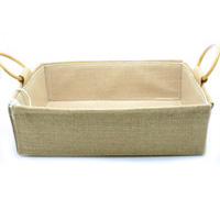 JUTE HAMPER TRAY with HANDLES-Medium